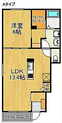 エンジェルハウスA・B[1階]の間取り