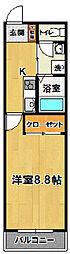 マンションTAIRA2[203号室]の間取り