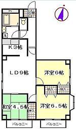 コートグランディア一ツ家[4階]の間取り