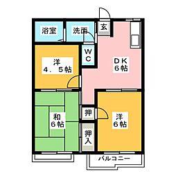 メゾン・ドゥ・セヴィーヌ[2階]の間取り