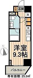 JR総武線 浅草橋駅 徒歩7分の賃貸マンション 10階ワンルームの間取り