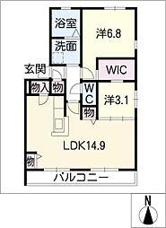 ボナール大石A棟[1階]の間取り