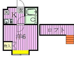 ジュネパレス松戸第40[201号室]の間取り