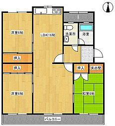 本地ケ原住宅3号棟 201号[2階]の間取り