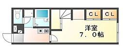 JR予讃線 宇多津駅 徒歩5分の賃貸アパート 1階1Kの間取り