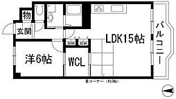 兵庫県川西市向陽台1丁目の賃貸マンションの間取り