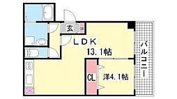 兵庫県神戸市中央区二宮町2丁目の賃貸マンションの間取り