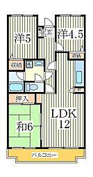 第十パールメゾン蒲田[3階]の間取り