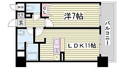 インボイス新神戸レジデンス[608号室]の間取り
