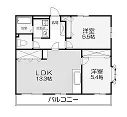 コート・グランシャリオ[3階]の間取り