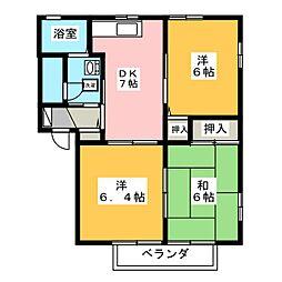 グラシア妹尾 壱番館[2階]の間取り