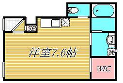 東京都世田谷区上用賀5丁目の賃貸アパートの間取り