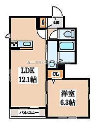 (仮称)東大阪市・シャーメゾン太平寺[1階]の間取り