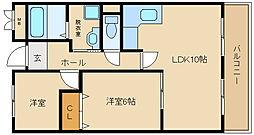 パレ フルール[2階]の間取り