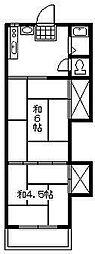 オレンジハウス1[2階]の間取り