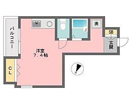 SEIBUマンションII[401号室]の間取り