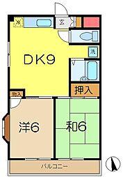 YNマンション[3階]の間取り