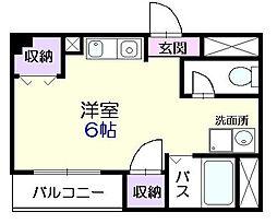 東京都江東区木場2丁目の賃貸マンションの間取り
