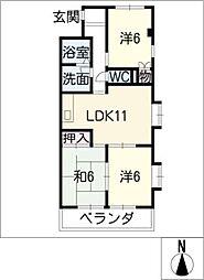 AZure[2階]の間取り