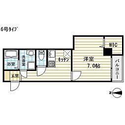 クイーンライフ東今里[8階]の間取り