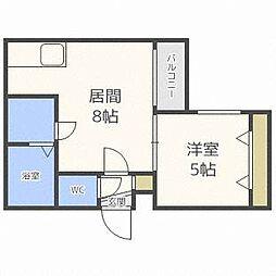 フォレスト二十四軒[2階]の間取り