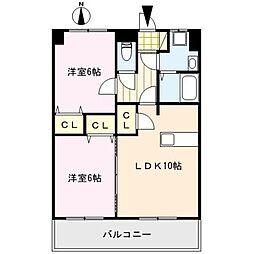 コア・フォレスタ[1階]の間取り