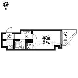 アクシルコート京都二条WEST904[9階]の間取り