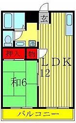 第二パールハイツ[A302号室]の間取り