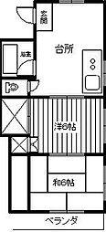古川電気ビル[303号室]の間取り
