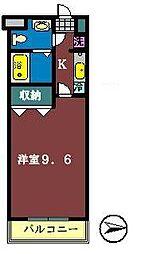 金太郎ヒルズ39[102号室]の間取り