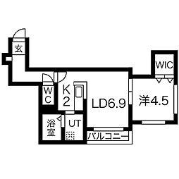 ボルトボヌール南7条[3階]の間取り