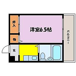 滋賀県大津市御幸町の賃貸アパートの間取り