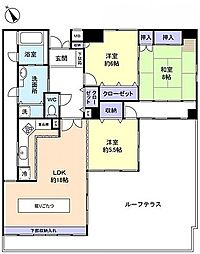 CASSIA 緑ヶ丘[        13階号室]の間取り
