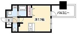 ADVANCE NAGOYA MOXIE 5階ワンルームの間取り