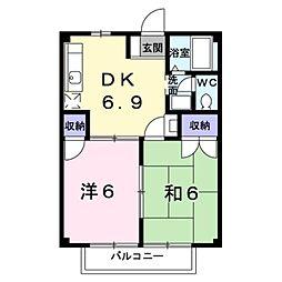 ファミール21A[2階]の間取り