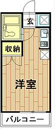 神奈川県川崎市中原区木月住吉町の賃貸アパートの間取り