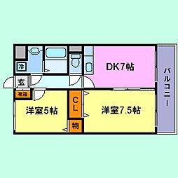 プライマリー須磨[2階]の間取り
