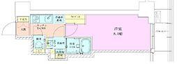 東京メトロ千代田線 赤坂駅 徒歩3分の賃貸マンション 3階1Kの間取り