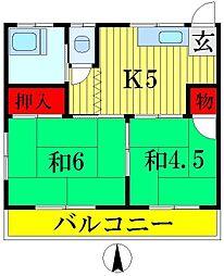 小倉荘[1階]の間取り