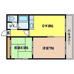北海道札幌市中央区北四条西14丁目の賃貸マンションの間取り