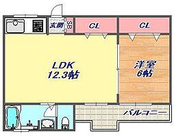 大桂マンション[2階]の間取り