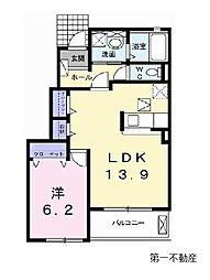 兵庫県加東市家原の賃貸アパートの間取り