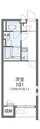 クレイノTOBAV[1階]の間取り
