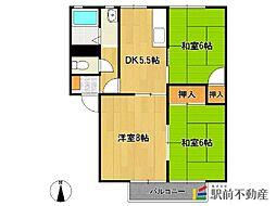 アミューズメントシティWING H棟[1階]の間取り