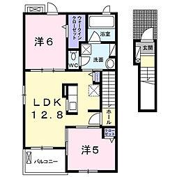 クレインガーデン[2階]の間取り