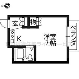 マンション稲垣[401号室]の間取り