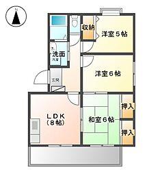 セレクトA・B[3階]の間取り
