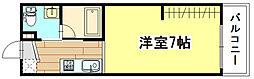 広島県広島市南区出島2丁目の賃貸アパートの間取り