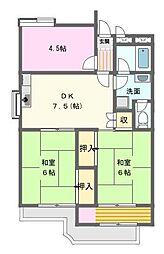 第3富士ハイツ[2階]の間取り