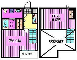 orsa foresta[2階]の間取り